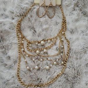 Jewelry - 📿🧜♀️Bundle Boho Layer Necklace & Earrings